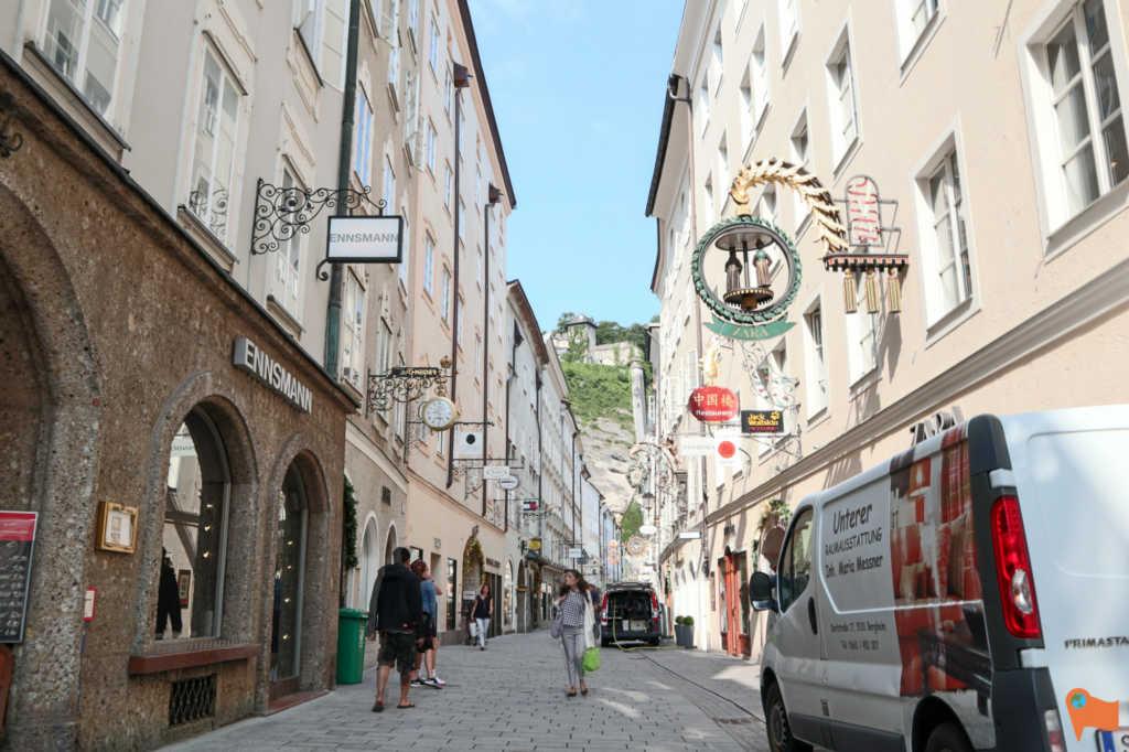 Getreidegasse street, Salzburg, Austria