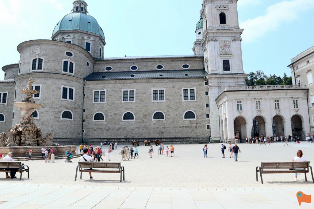 Salzburg Old Town Square, Salzburg, Austria