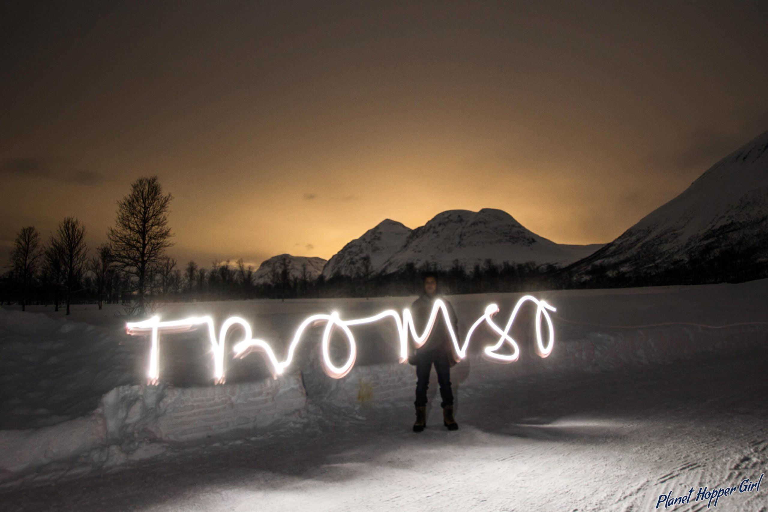 We are leaving parts of our heart and foot prints in Norway moment, Tromso, Norway