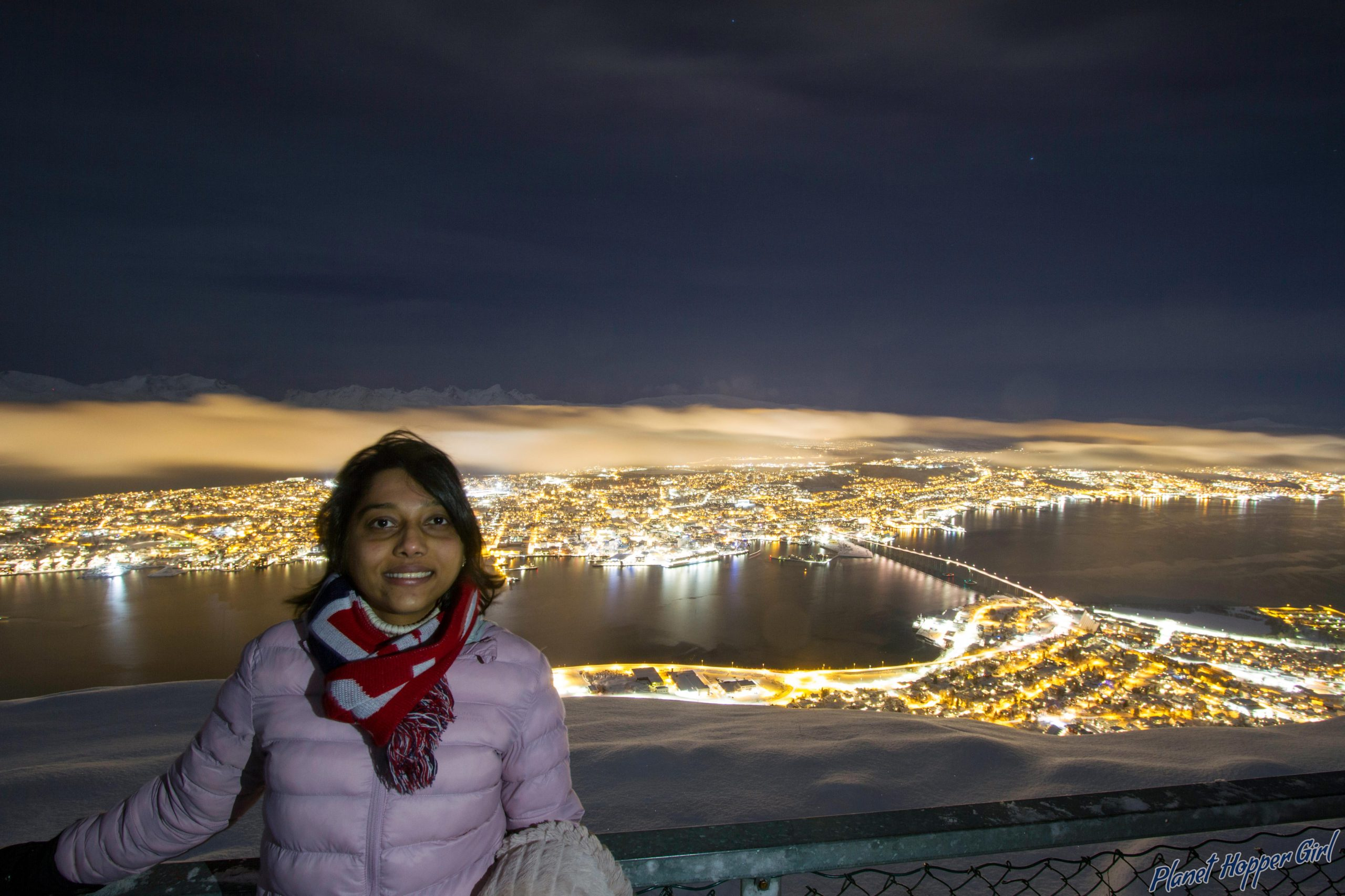The Tromso City view at night, Norway