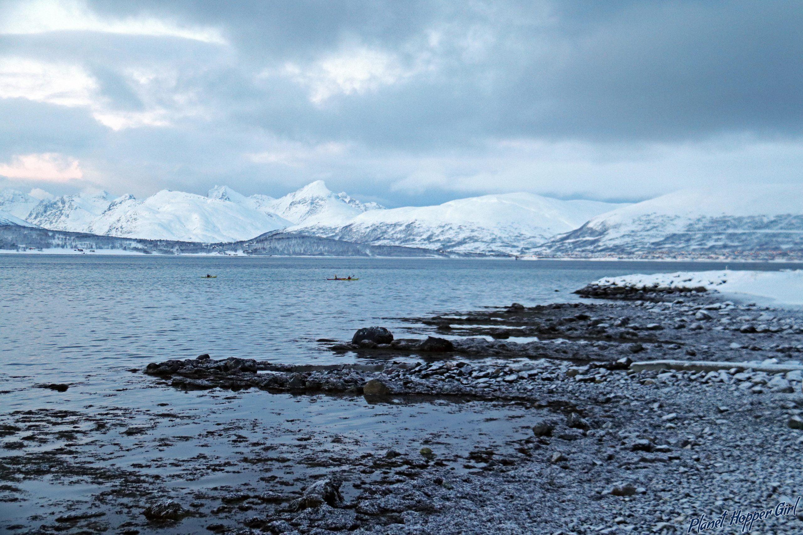 The Norwegian snow landscape in Tromso, Norway