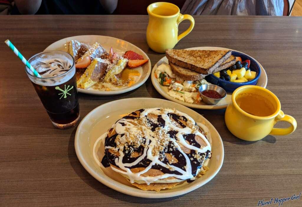 American breakfast in San Diego, California, USA