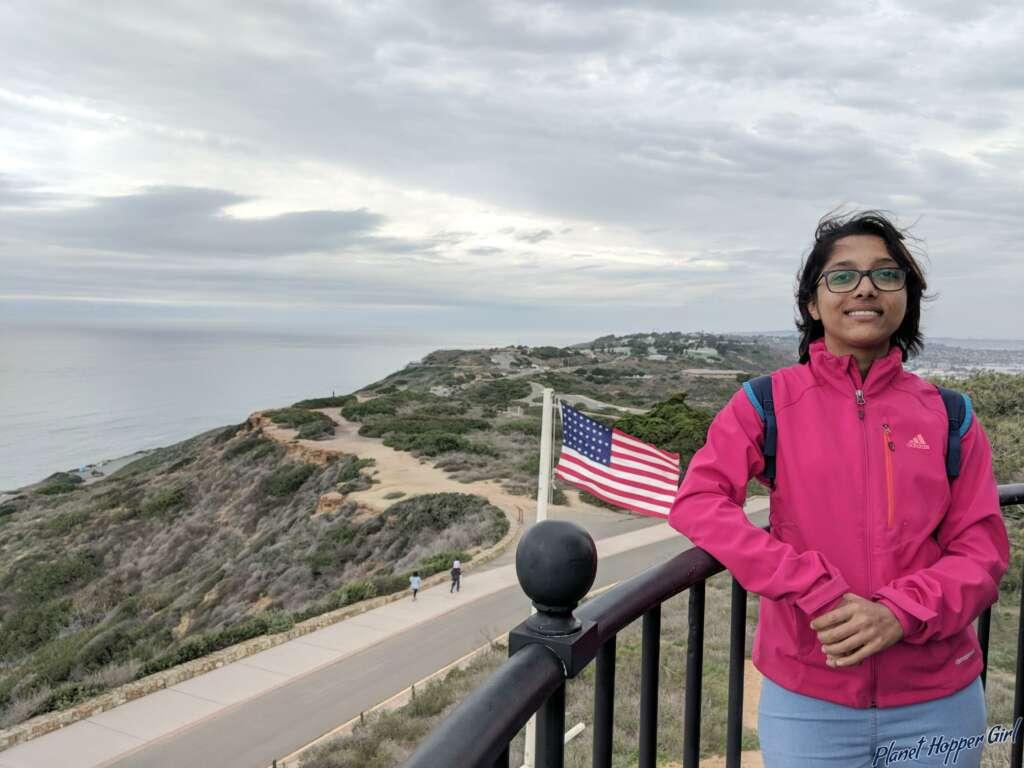 Point Loma USA Flag, San Diego, California, USA