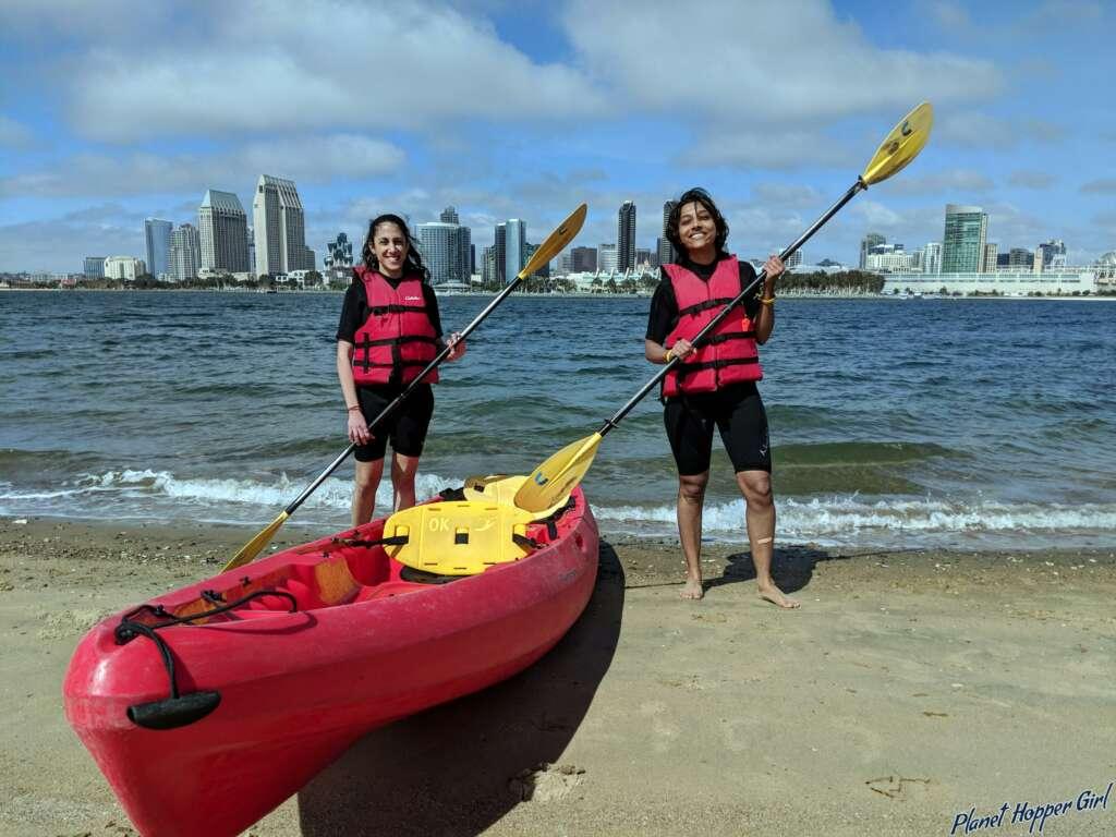Kayaking at Coronado, San Diego, California, USA