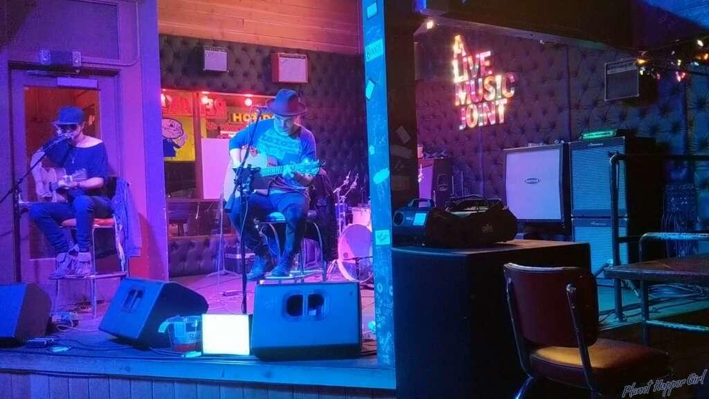 Night scene, A Live Music Joint, San Diego, California, USA