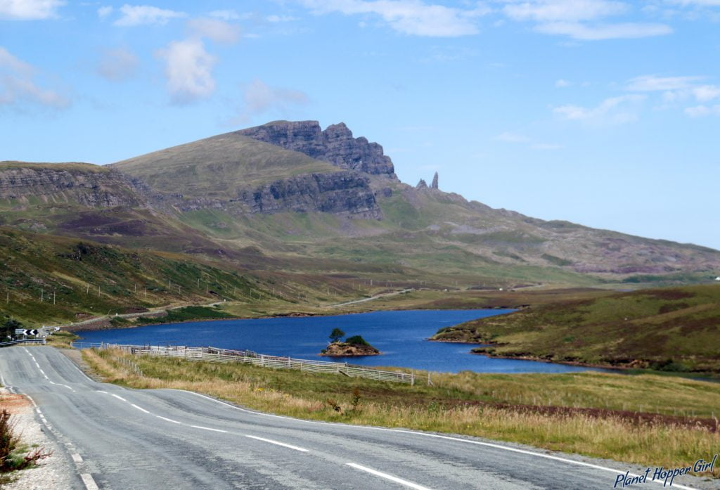 On the way to Old Man of Storr from Portree, Isle of Skye, Scotland