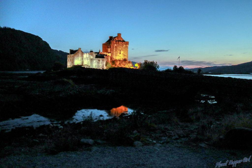 Eilean Donan Castle Night View, Scotland