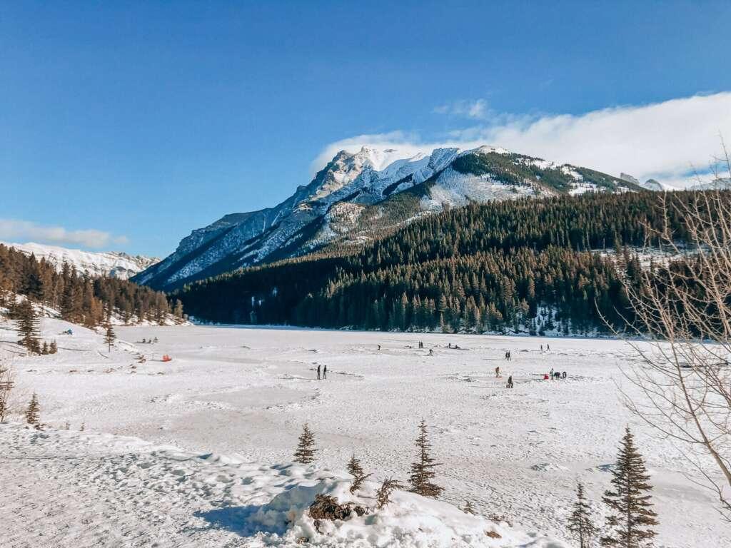 Winter Activities Around the World Wild Skating in Banff Canada