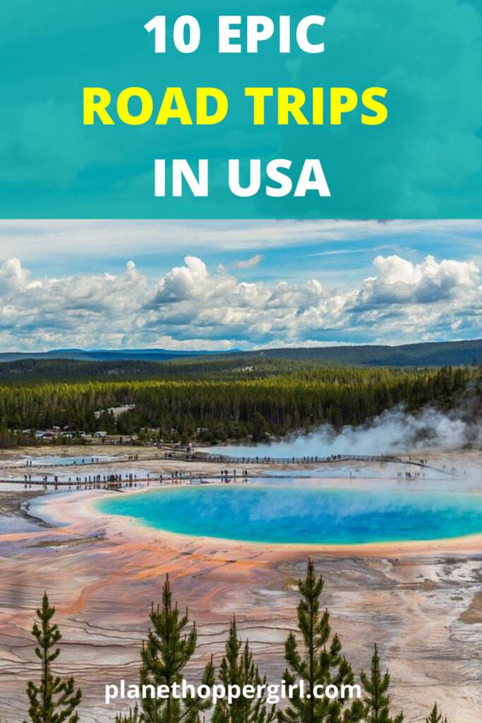 Best Road Trips in USA Pin