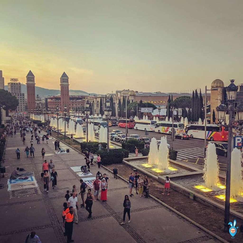 One Week in Barcelona in Summer - Summer Plaza de Espana