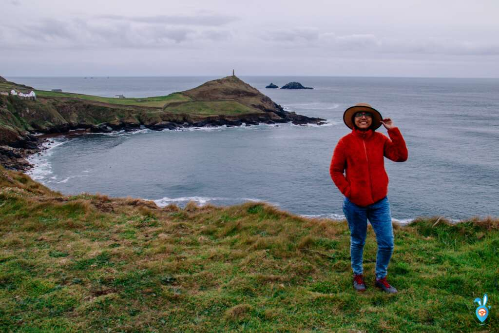Cape of Cornwall with a girl