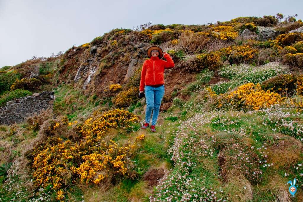 Cornwall Road trip Coastal Scenery and a girl