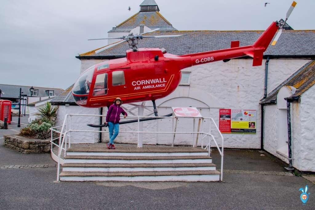 Air ambulance, Land's end,Cornwall