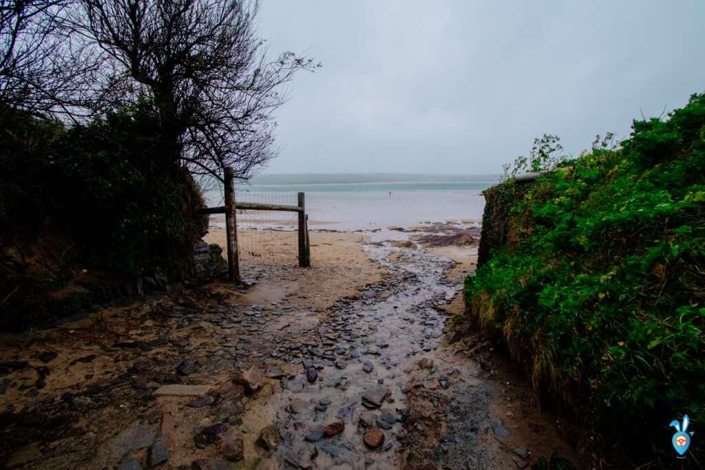 Entering Polzeath Beach, Cornwall